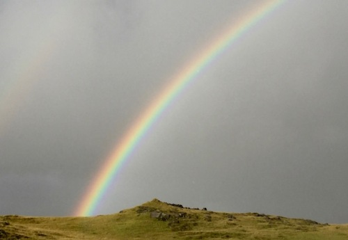 rainbow near vik iceland