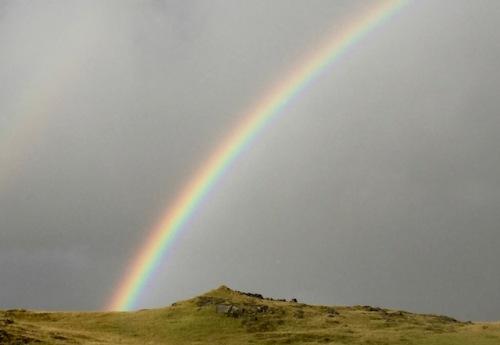 rainbow near vik iceland