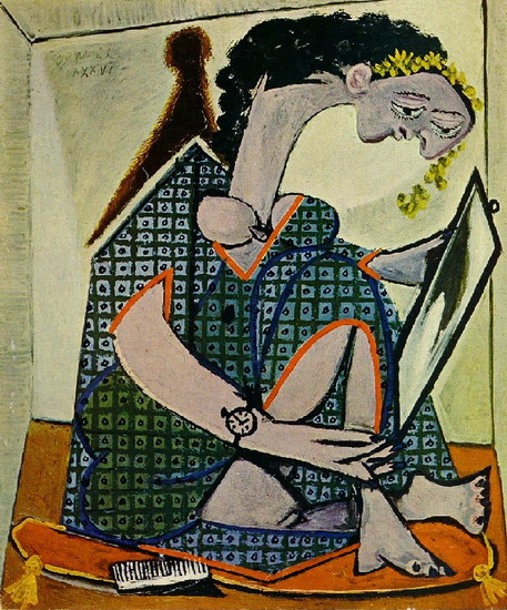 woman with a watch picasso 1936