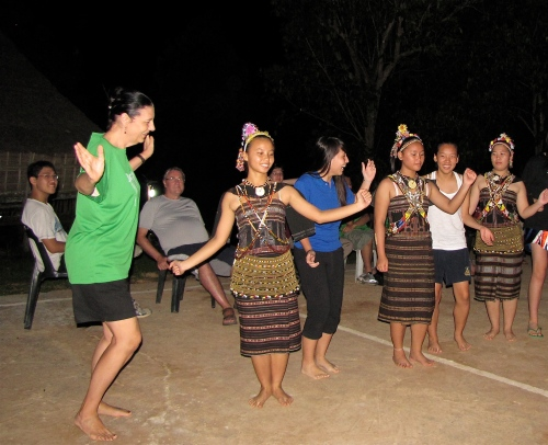 dancing with teenagers borneo