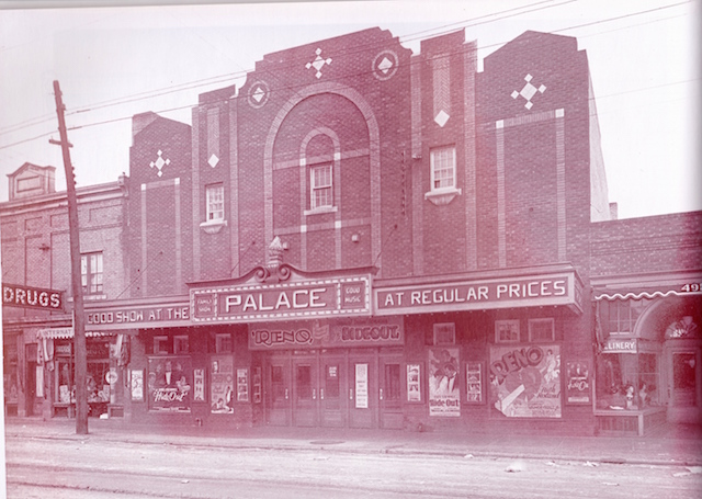 The Palace Theatre in 1930- photo by Jim Fustey from Silver Screens on the Prairie by Russ Gourluck