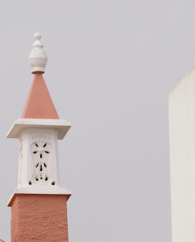brown and white chimney
