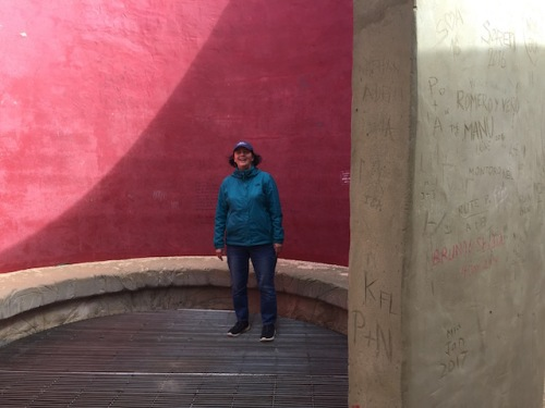 in pancho guedes maze at fort sagres