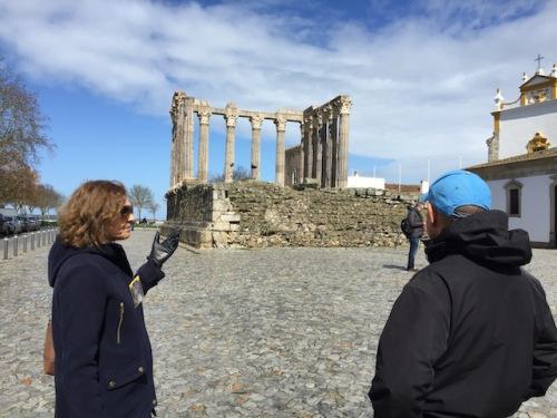 Maria shows dave roman temple