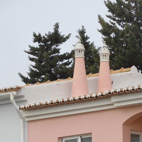 pink algarve chimney
