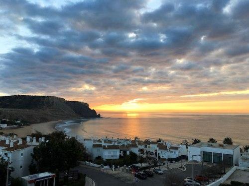 sunrise over praia da luz