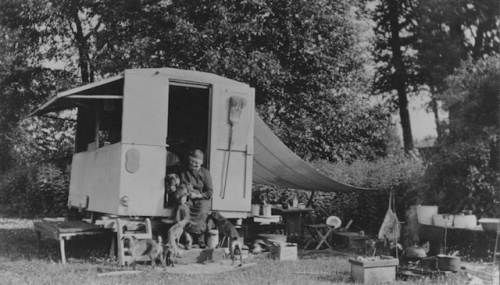 emily carr in her caravan