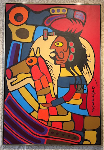 Pale Horse and RIder protected by Thunderbird Norval Morrisseau