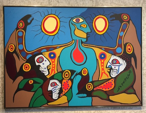 Power of the Spirit of Manitou by Norval Morrisseau