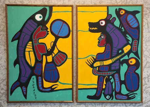 Shaman communication by Norval Morrisseau