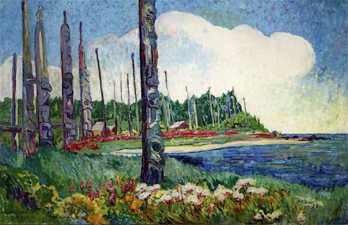 totem and trees 1912