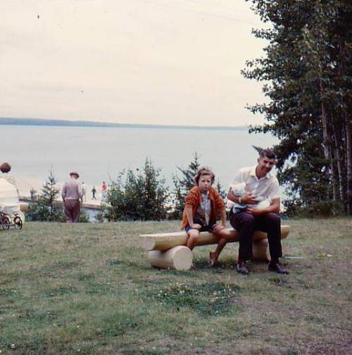 dad and kaaren at cottage