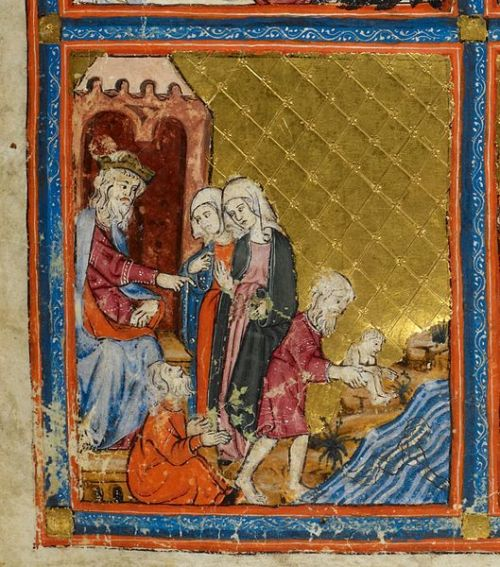 Golden_Haggadah_Pharaoh_and_the_Midwives public domain