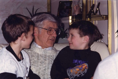 grandfather with grandsons