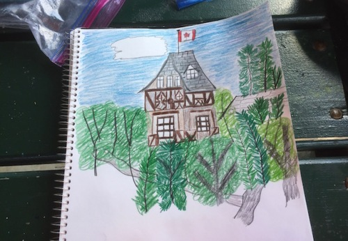 sketch assiniboine park