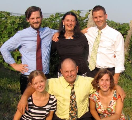 family photo hannah's wedding