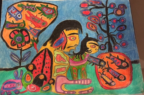 norval morriseau inspired