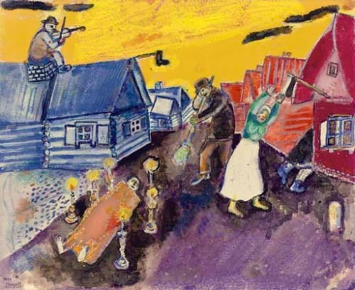 le mort by marc chagall