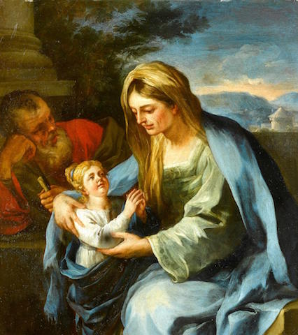 1674 st. anne and st. Joachim with mary Francesco Solimena_