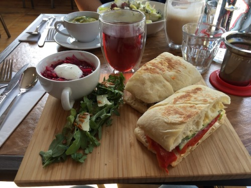 amsterdam tea room vegetable sandwich
