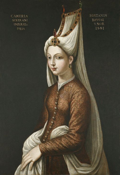 Cristofano dell'Altissimo portrait of Mihrimah Sultan