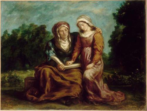 education of the virgin Eugène Delacroix 1842 French