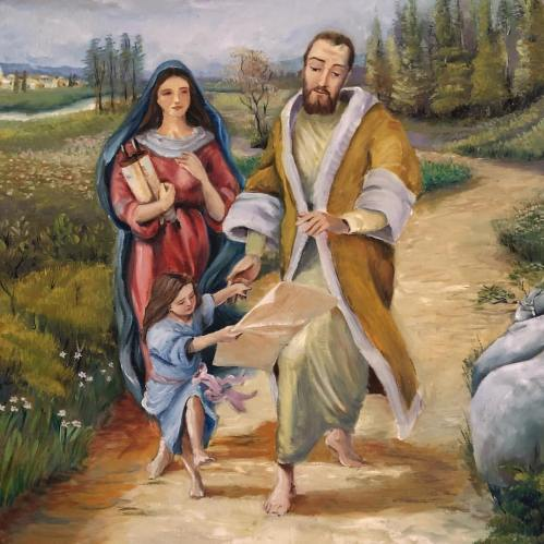 mary and parents by Jose Alejandro Arango