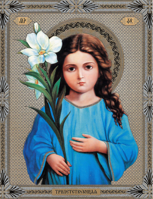 russian orthodox icon mary as a child