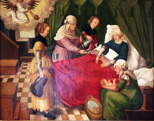 The Birth of the Virgin by Wolf Traut (1478-1520)