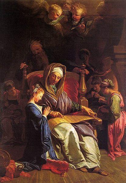 The Education of Mary Jean Jouvenet 1700 Uffizi