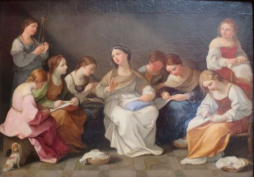 the education of the virgin in the hermitage guido rene 1641