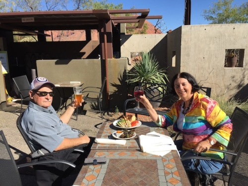 lunch at coyote gulch art village