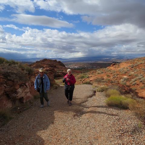 walking in the desert reserve