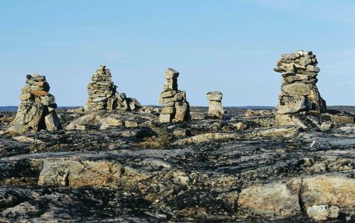 inukshuks on Foxe Peninsula
