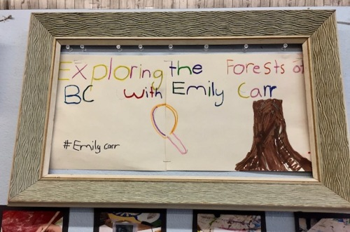 emily carr display winnipeg classroom