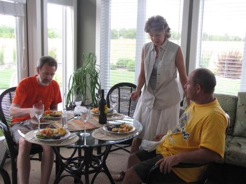 sue serves us supper