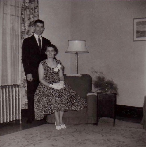 mom and dad at dad's graduation