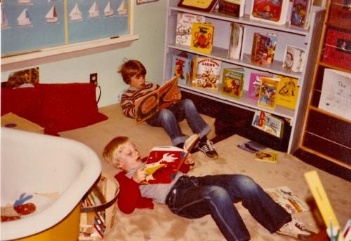 jeff and justin in reading corner