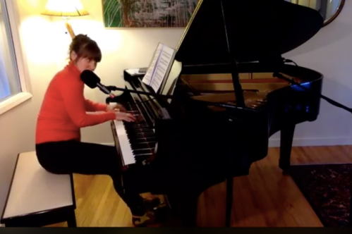 madeline on the piano
