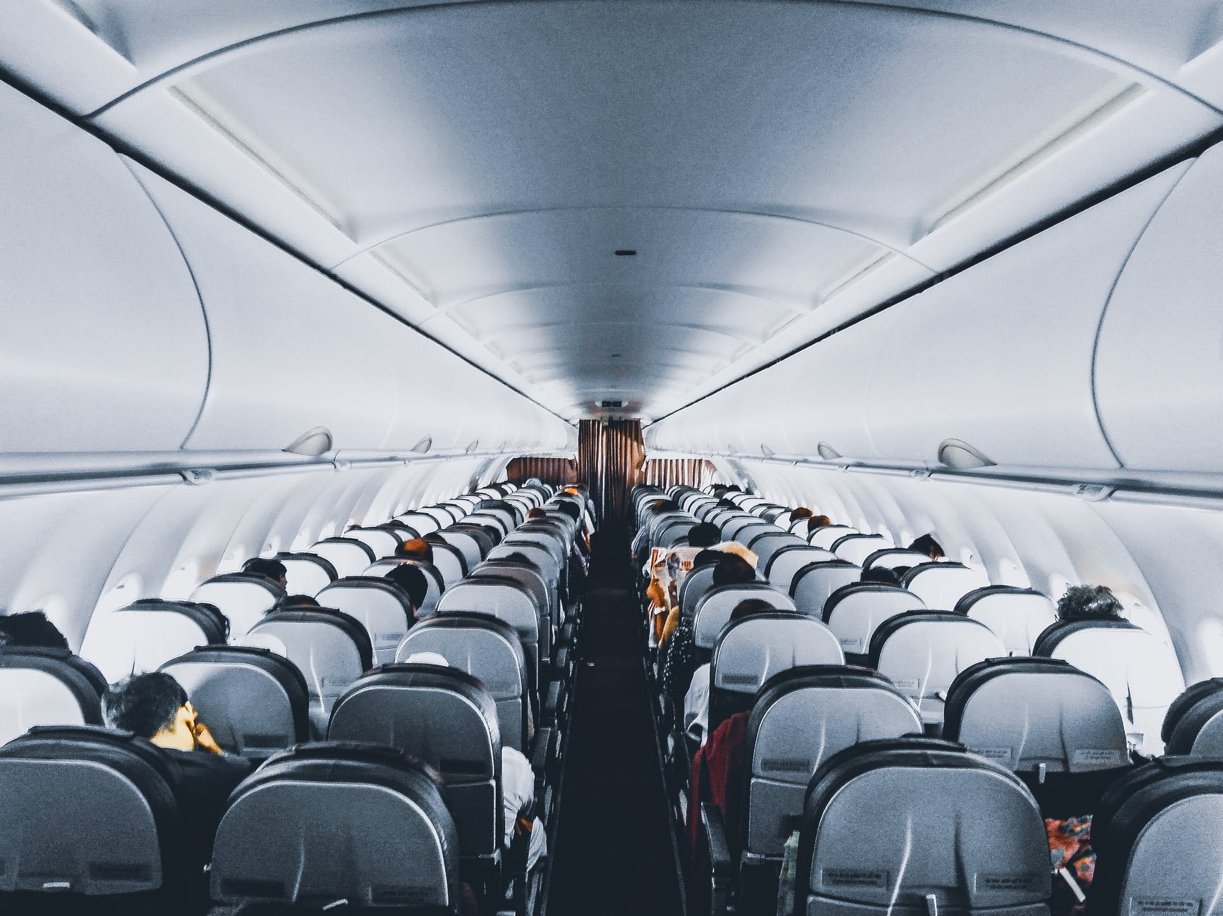 people inside commercial air plane