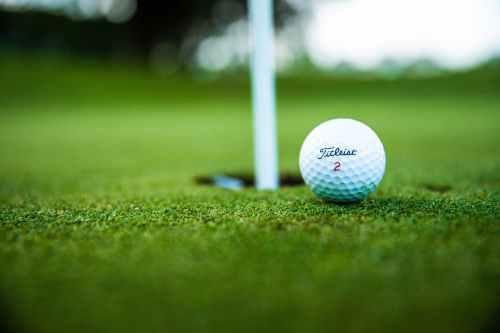 close up photo of golf ball