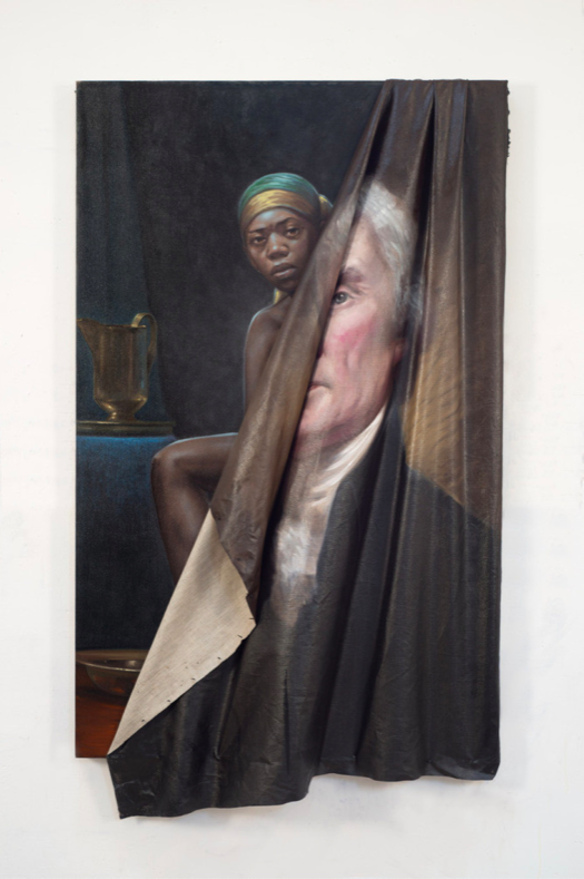 "Beyond the Myth of Benevolence"" 2014 painting by Titus Kaphar"