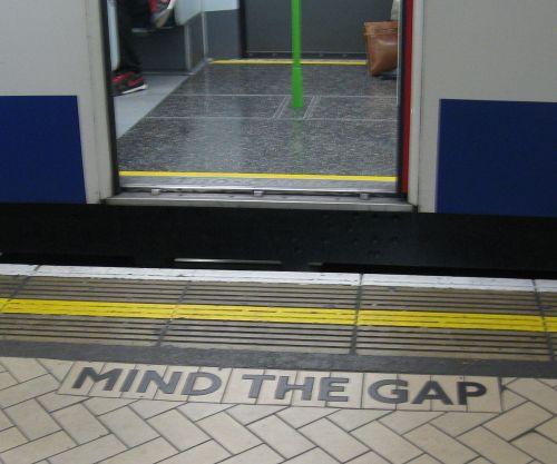 mind the gap sign wikipedia