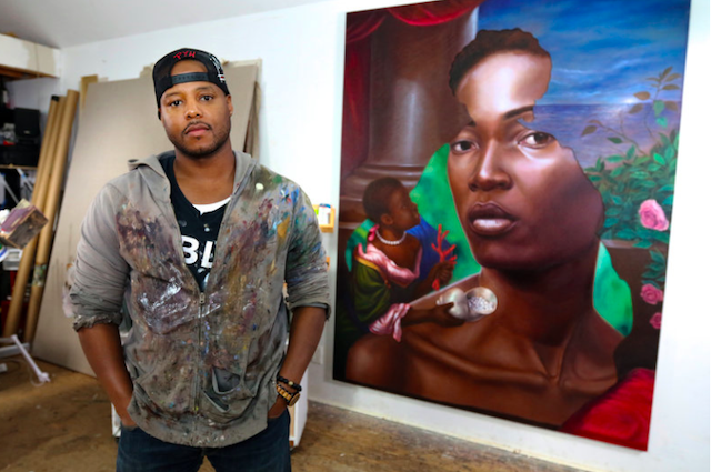 photos of Titus Kaphar from the MacArthur Foundation